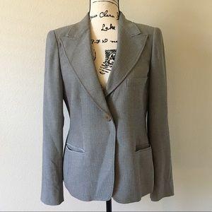Armani collezioni gray woven blazer 8